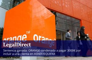 ganamos sentencia contra orange por inclusión en ASNEF