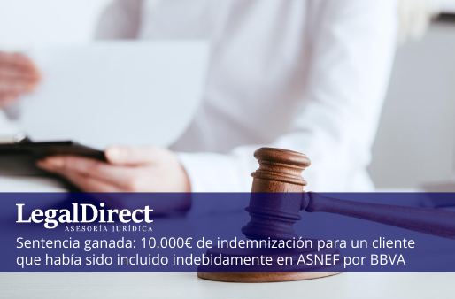 indemnización por inclusión indebida en asnef